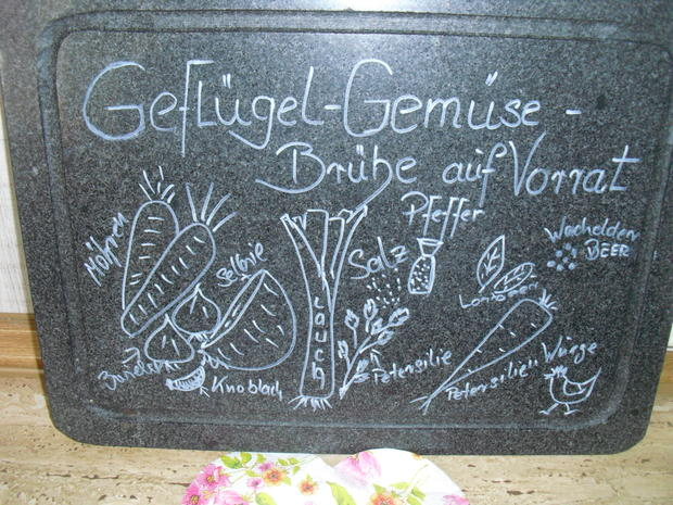 Geflügel-Gemüse-Brühe auf Vorrat - Rezept - Bild Nr. 5316