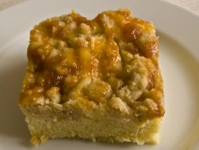 Apfel-Blechkuchen mit Zimt-Streuseln - Rezept