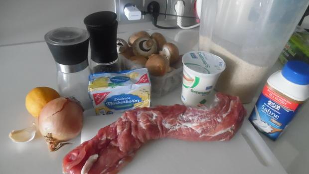 Nudel-Auflauf mit Geschnetzeltem vom Schweinefilet und Champignons - Rezept - Bild Nr. 5357
