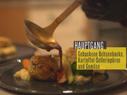 Gebackene Ochsenbacke mit jungem Gemüse an getrüffeltem Kartoffel-Selleriepüree - Rezept - Bild Nr. 2
