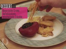 Bayerisch Creme im Duett mit Apfelküchle und beschwipsten Früchten - Rezept - Bild Nr. 2