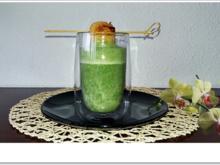 Spinat-Cremesuppe mit  Jakobsmuschel-Spieß - Rezept - Bild Nr. 5352