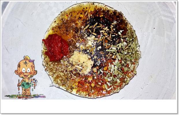 Marinierte Hähnchen-Unterschenkel aus dem Backofen mit Beilage - Rezept - Bild Nr. 5356