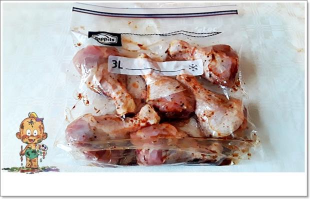 Marinierte Hähnchen-Unterschenkel aus dem Backofen mit Beilage - Rezept - Bild Nr. 5358