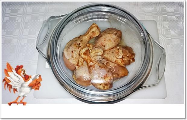 Marinierte Hähnchen-Unterschenkel aus dem Backofen mit Beilage - Rezept - Bild Nr. 5359