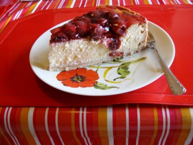 Kokos Mascarpone Kase Kuchen Mit Kirschen Rezept Kochbar De