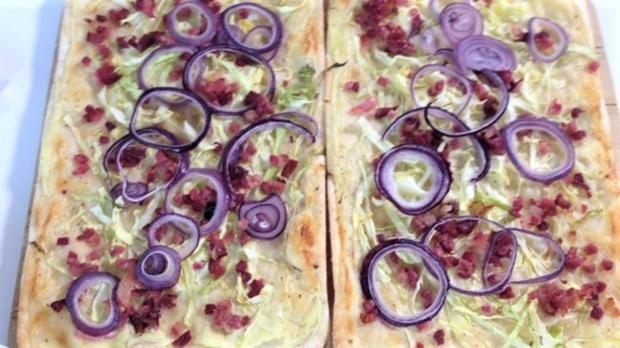 Spitzkohl-Flammkuchen - Rezept - Bild Nr. 2