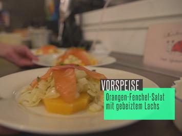 Orangen-Fenchel-Salat mit gebeiztem Lachs - Rezept - Bild Nr. 2