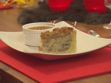 Mit Honig karamellisierter Apfel-Walnuss-Kuchen mit Akaziensamen-Crème-brûlée - Rezept - Bild Nr. 2