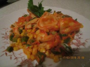 Rezept: Gemüse-Tortelloni-Gratin