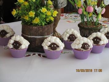 Rezept: Muffins: Osterlämmchen