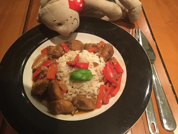 Hähnchen in Kokosmilch an rotem Thaicurry - Rezept - Bild Nr. 5449