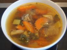 Kräftige Rindfleischsuppe mit Suppengemüse - Rezept - Bild Nr. 5468