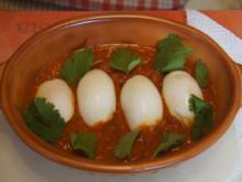 Eiercurry mit Tomaten und Fladenbrot - Rezept - Bild Nr. 5478