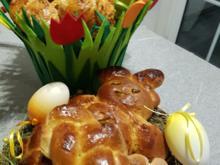 Süsses Frühstücksbrot  zur Einstimmung zu Ostern - Rezept - Bild Nr. 5491