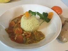 Kurkuma-Reis mit Möhren-Ingwer-Soße - Rezept - Bild Nr. 5484