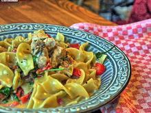 Pasta mit Hähnchenbrust und Spitzpaprika in Weinbrandsauce - Rezept - Bild Nr. 2