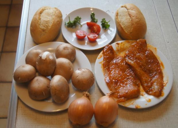 Hähnchen-Minutensteak mit Zwiebeln und Champignons - Rezept - Bild Nr. 5516