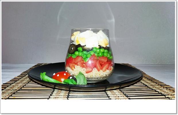 Schichtsalat im Glas auch ➯ zum Mitnehmen - Rezept - Bild Nr. 5563