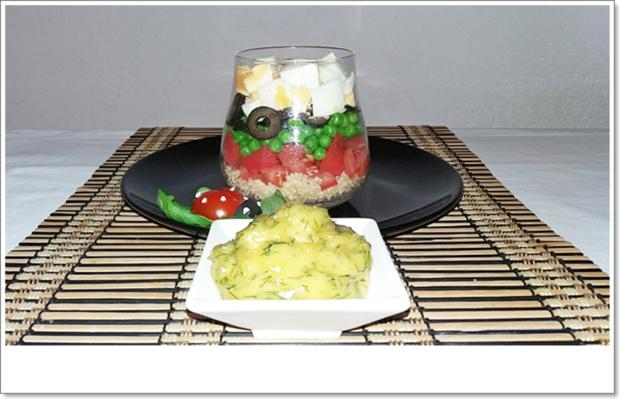 Schichtsalat im Glas auch ➯ zum Mitnehmen - Rezept - Bild Nr. 5564