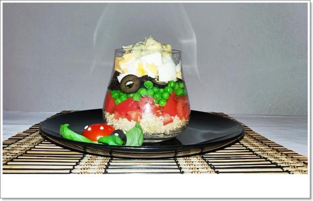 Schichtsalat im Glas auch ➯ zum Mitnehmen - Rezept - Bild Nr. 5565