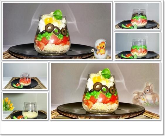 Schichtsalat im Glas auch ➯ zum Mitnehmen - Rezept - Bild Nr. 5567