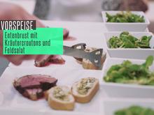 Barbarie-Entenbrust mit Zitronen-Honig-Sauce und Kräutercroutons - Rezept - Bild Nr. 2