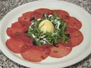 Rindercarpaccio mit Parmesan und Rucola (Ansgar Brinkmann) - Rezept - Bild Nr. 2
