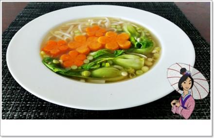 Pak Choi Suppe auf Hühnchenbrühe Basis - Rezept - Bild Nr. 5594