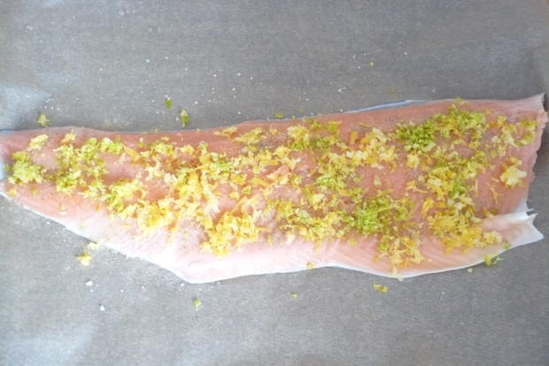Grüner Spargel und Lachs vom Blech - Rezept - Bild Nr. 5588