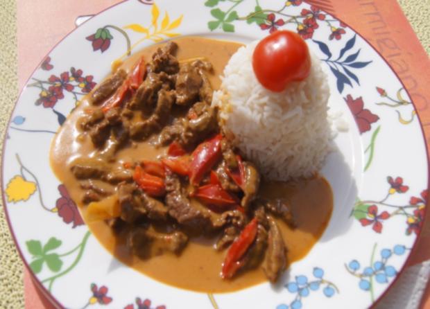 Rindfleischcurry mit Zitronengras und Basmati Reis - Rezept - Bild Nr. 5603