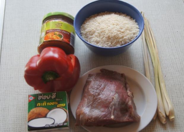 Rindfleischcurry mit Zitronengras und Basmati Reis - Rezept - Bild Nr. 5605