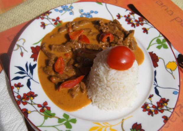 Rindfleischcurry mit Zitronengras und Basmati Reis - Rezept - Bild Nr. 5622