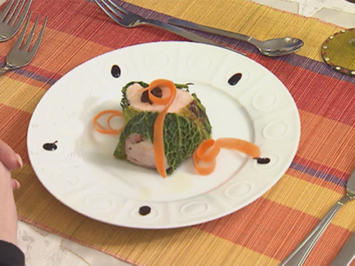 Roulés de chou au poulet (Kohl-Hühnerbrust Roulade) - Rezept - Bild Nr. 2
