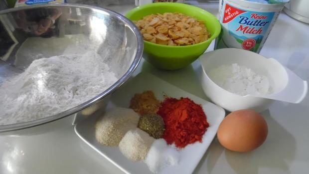 Fried Chicken mit Coleslaw - Rezept - Bild Nr. 5616