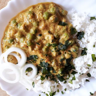indisch: Anjeer Mattar Gravy (Erbsen in einer Feigen-Joghurt-Soße) - Rezept - Bild Nr. 5609