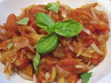 Rezept: Gemüse: Tomaten-Zwiebel-Gemüse - einfach und schnell