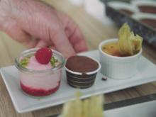 Café Gourmand: Fondant Chocolat – Crême Brûlée – Himbeeren Crème glacée - Rezept - Bild Nr. 2