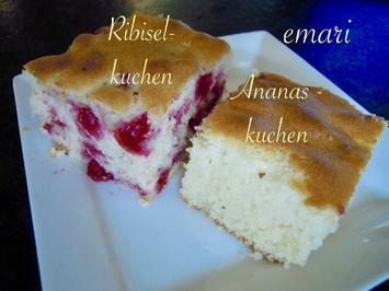 2erlei Kuchen ... Omis Ribisel- bzw. Ananaskuchen - Rezept - Bild Nr. 5626