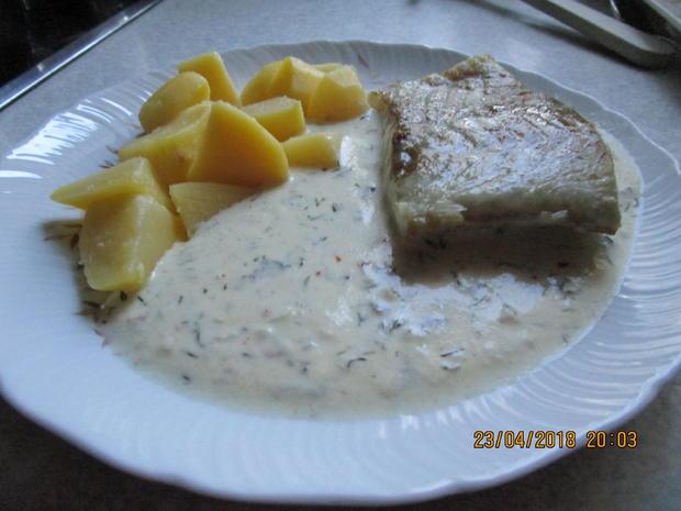 Seelachsfilet in Zitronen-Dill-Sahne-Senf-Sauce - Rezept - Bild Nr. 5645
