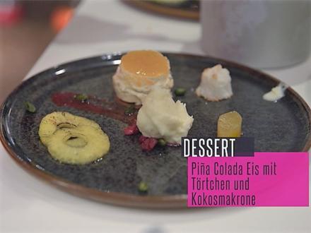 Pina Colada Eis und Kokos-Passionsfrucht-Törtchen auf Schokoladen Crunch Boden - Rezept - Bild Nr. 5645