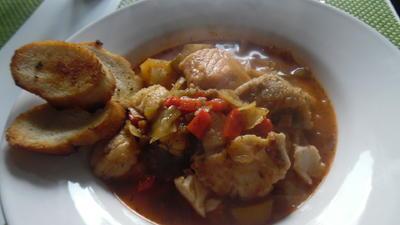 Fischeintopf mit Knoblauch-Crostinis - Rezept - Bild Nr. 5648