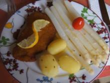 Spargel mit Frühkartoffeln und Schweineschnitzel - Rezept - Bild Nr. 5650