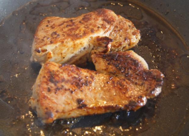Schweinefilet mit Spargel und Bratkartoffeln - Rezept - Bild Nr. 5654
