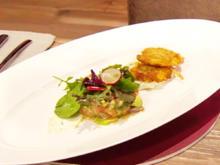 Kartoffelpuffer mit mariniertem Lachs (Glasperlenspiel) - Rezept - Bild Nr. 2