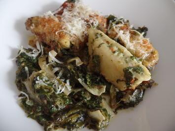 Rezept: Gemüse-Maultaschen -Spinat-Auflauf