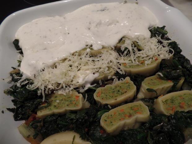 Gemüse-Maultaschen -Spinat-Auflauf - Rezept - Bild Nr. 5657