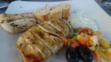 Calamari-Tuben vom Grill mit Frischkäse-Bärlauch-Dip - Rezept - Bild Nr. 5650