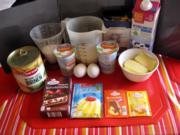 Schmand Kuchen mit Birnen und Schoko - Rezept - Bild Nr. 2