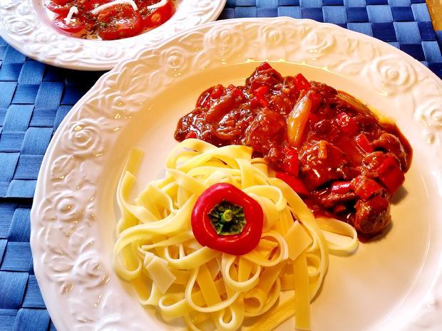 Paprika-Ragout vom Schwein - Rezept - Bild Nr. 5658